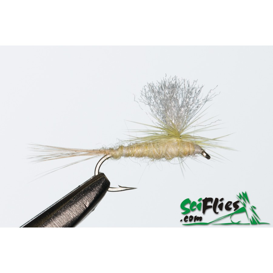 Mosca Dryfly Parachute Pale Yellow